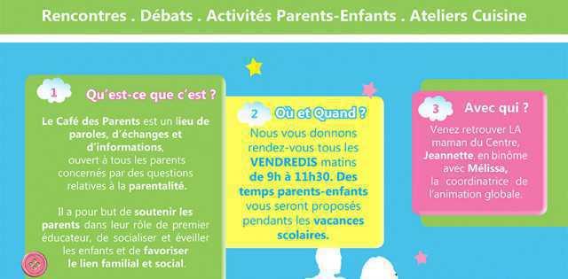 Le Café des Parents vous propose son programme pour le mois à venir.