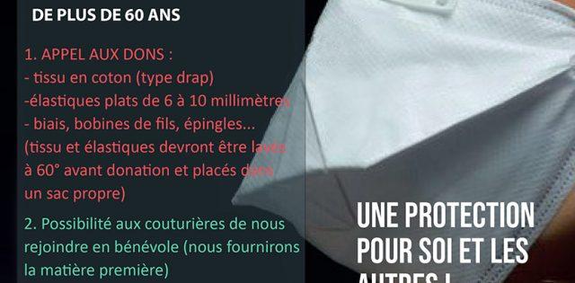 """2000 Masques Solidaires pour Pontault-Combault… et plus si possible"""". Dès lundi 13 avril, la fabrication de masques alternatifs en tissu sera réalisée grâce à la participation bénévole des couturières du […]"""